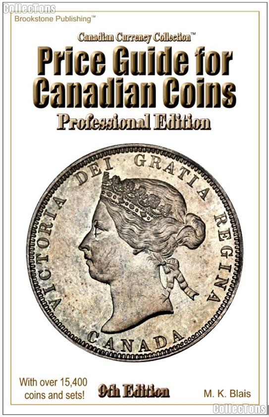 Price Guide for Canadian Coins Professional Edition 9th by M.K. Blais