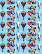 1983 Hot Air Ballooning 20 Cent US Postage Stamp MNH Sheet of 40 Scott #2032-2035