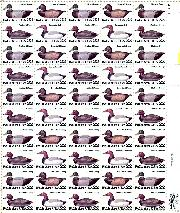1985 Duck Decoys 22 Cent US Postage Stamp MNH Sheet of 50 Scott #2138-2141
