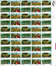 1985 International Youth Year 22 Cent US Postage Stamp MNH Sheet of 50 Scott #2160-2163