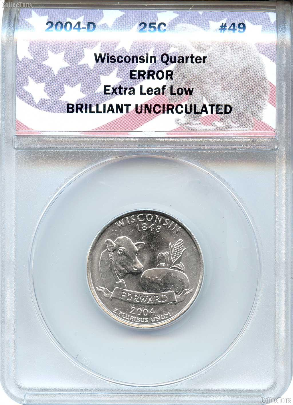 CollecTons Keepers #49: 2004-D Wisconsin Quarter, Extra Leaf Low, Error Coin