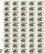 1981 Frederic Remington 18 Cent US Postage Stamp MNH Sheet of 50 Scott #1934