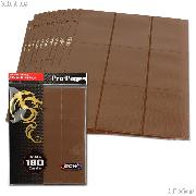 18-Pocket Side Loading Pro Pages Brown by BCW Pack of 10