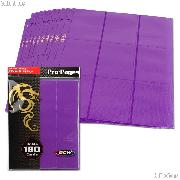 18-Pocket Side Loading Pro Pages Purple by BCW Pack of 10