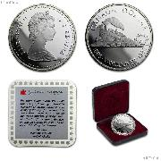 1986 Canadian PROOF Silver Dollar Transcontinental Railroad 100th Anniversary