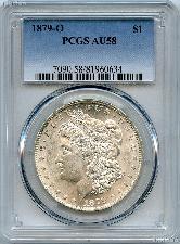 1879-O Morgan Silver Dollar - PCGS AU 58