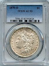 1879-O Morgan Silver Dollar - PCGS AU 53