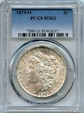 1879-O Morgan Silver Dollar - PCGS MS 61