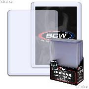 3x4 Sports Card Holders by BCW 10 Pack Thick Card Topload Sleeves 108 Point 2.75mm