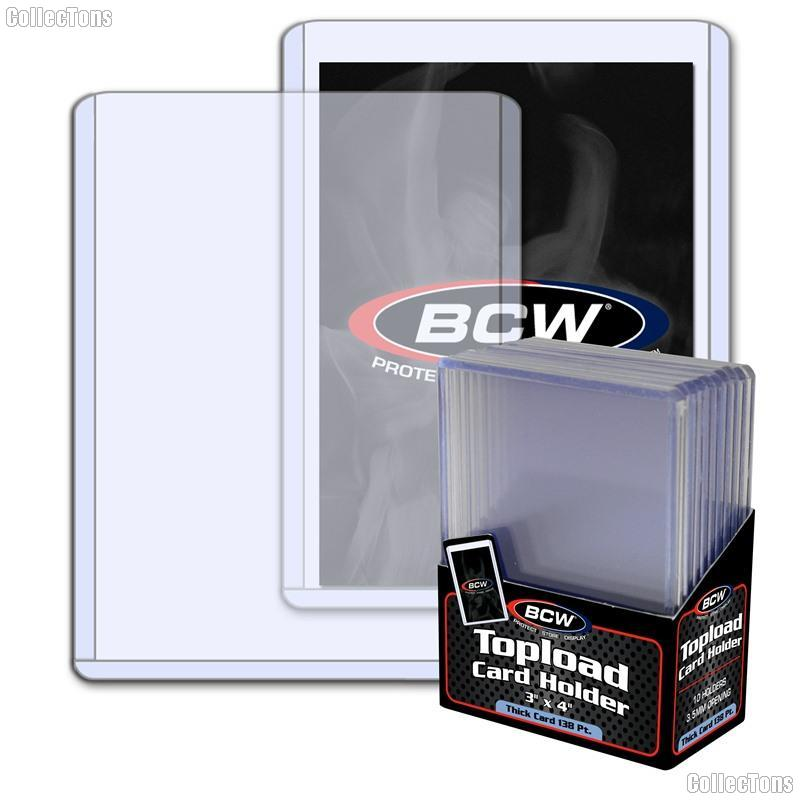 3x4 Sports Card Holders by BCW 10 Pack Thick Card Topload Sleeves 138 Point 3.5mm