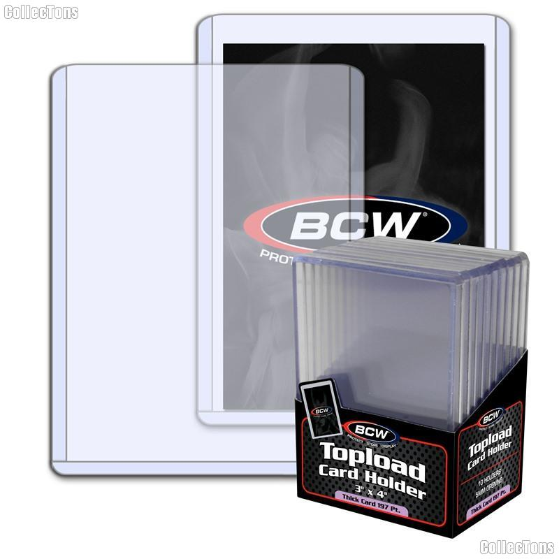 3x4 Sports Card Holders by BCW 10 Pack Thick Card Topload Sleeves 197 Point 5mm