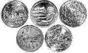 2017 National Park Quarters Complete Set San Francisco (S) Mint Uncirculated (5 Coins) IA, DC, MO, NJ, IN