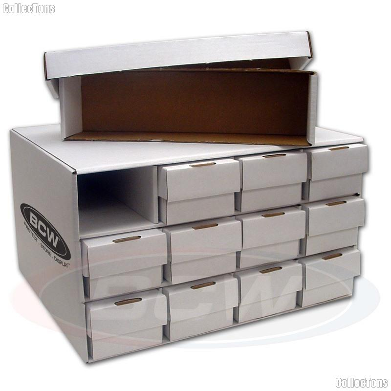 Card House w/ Twelve 800 Count Trading Card Storage Boxes by BCW