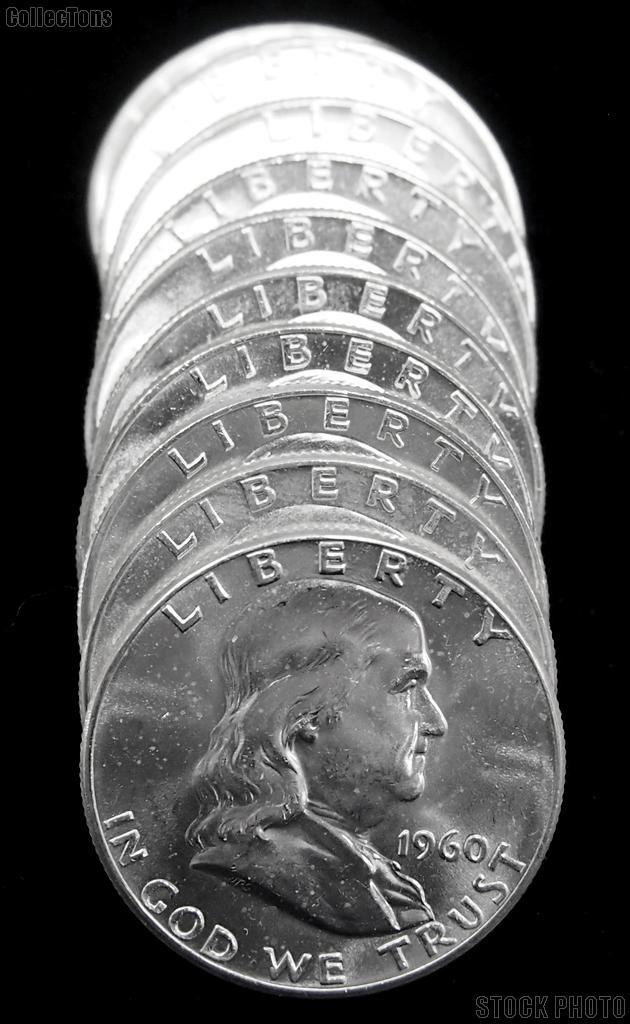 1960 BU Franklin Half Dollar Rolls - 20 Coins