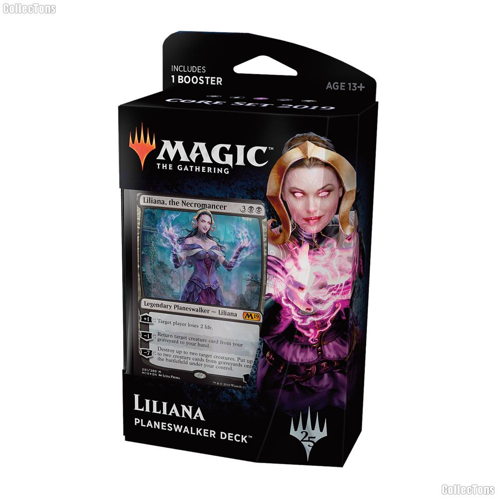 MTG Core Set 2019 M19: Magic the Gathering Planeswalker Deck: Liliana