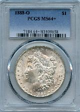 1888-O Morgan Silver Dollar in PCGS MS 64+