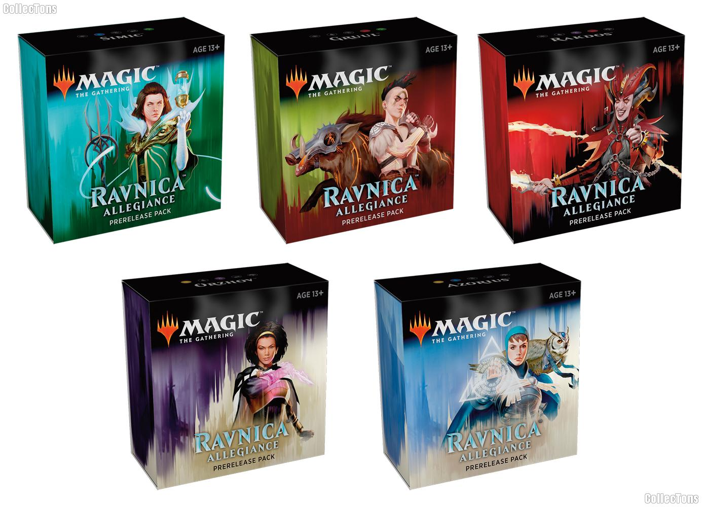 MTG - Magic the Gathering - Ravnica Allegiance Prerelease Packs All 5 Guilds