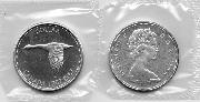 1967 BU Canada Silver Dollar in Original Mint Cello