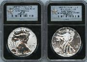 2013-W American Silver Eagle West Point Set (2 Coins) Reverse Proof and Enhanced EARLY RELEASES in Silver STAR Retro NGC PF 69 & SP 69