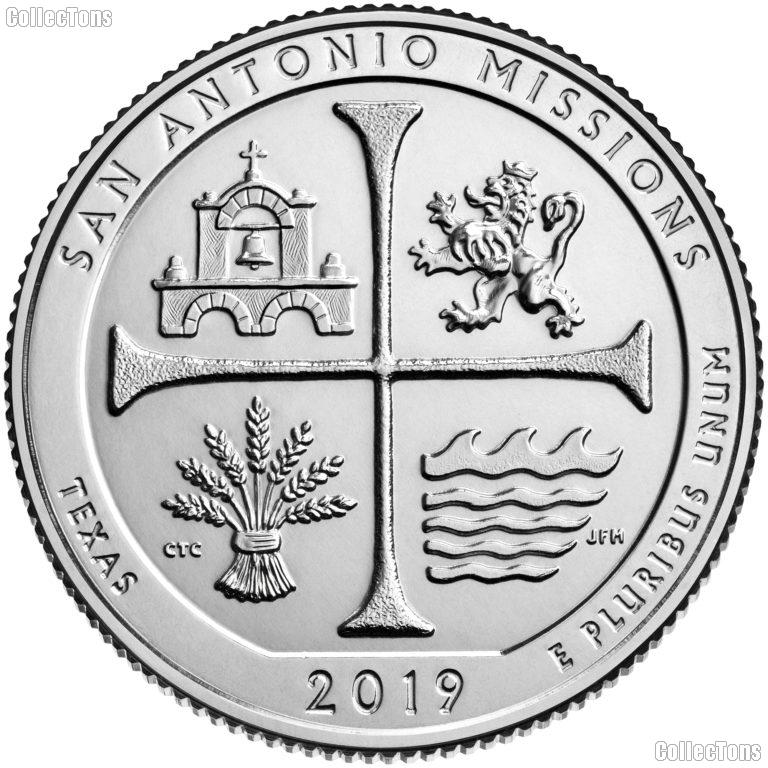 2019-D Texas San Antonio Missions National Historical Park Quarter GEM BU America the Beautiful