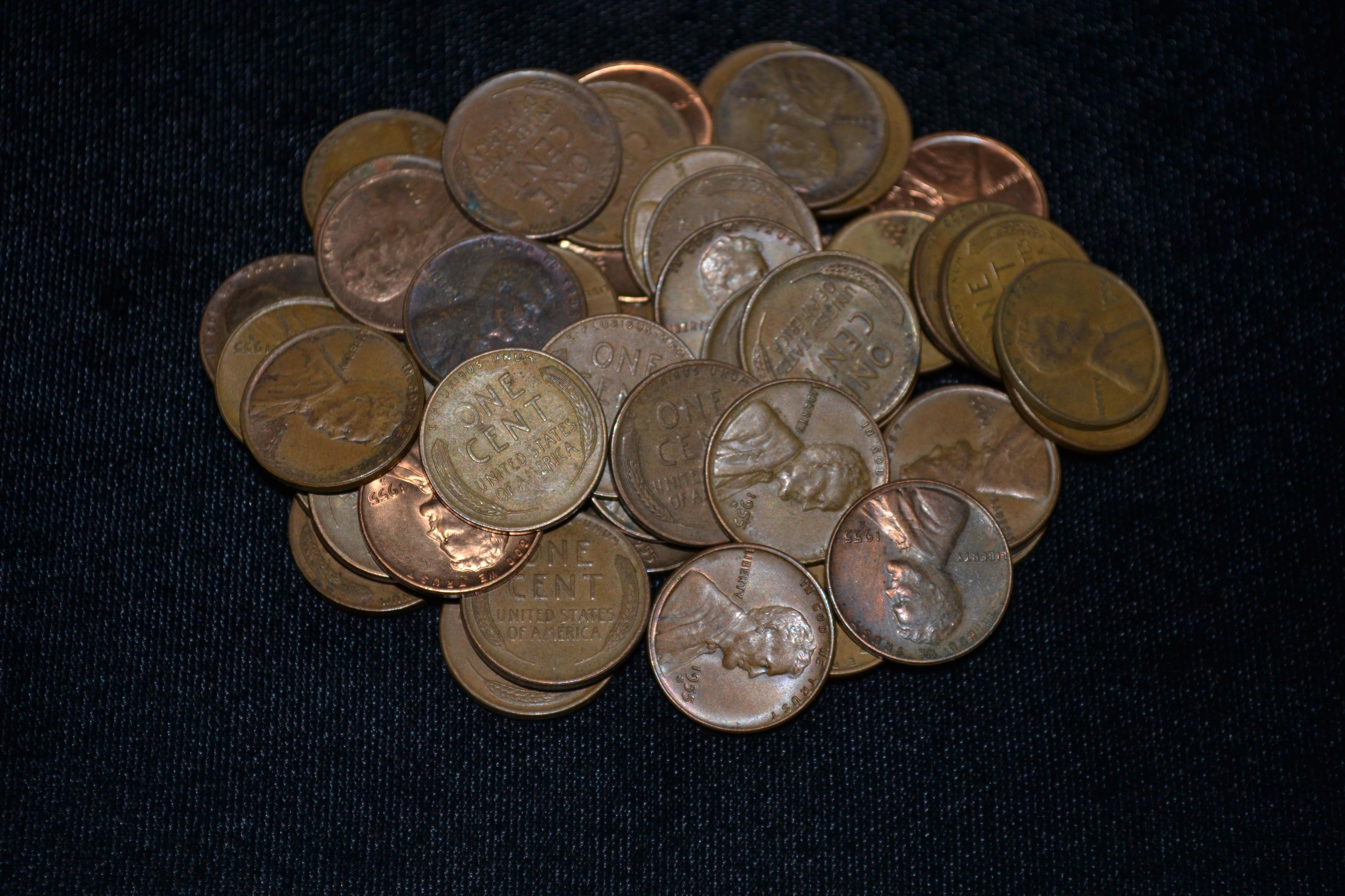 1955-S Lincoln Wheat Cent ROLL