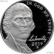 2019-S Jefferson Nickel PROOF Coin 2019 Proof Nickel Coin