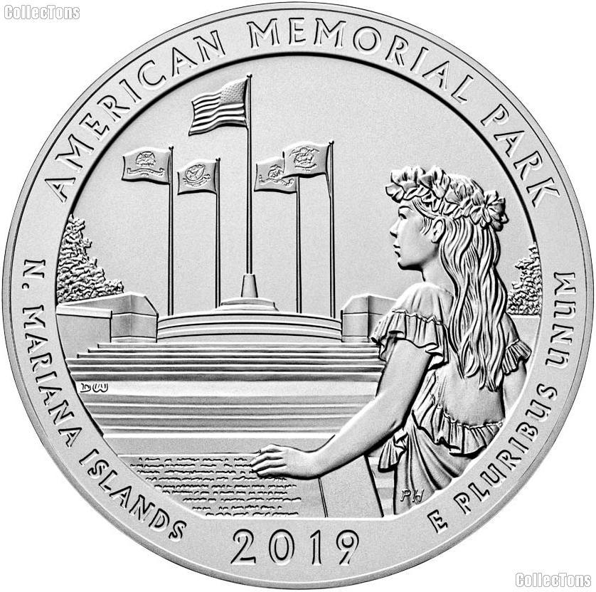 2019-W Northern Mariana Islands American Memorial Park Quarter GEM BU Great American Coin Hunt