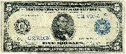Five Dollar Bill Federal Reserve Note Blue Seal Large Size Series 1914 US Currency Good or Better