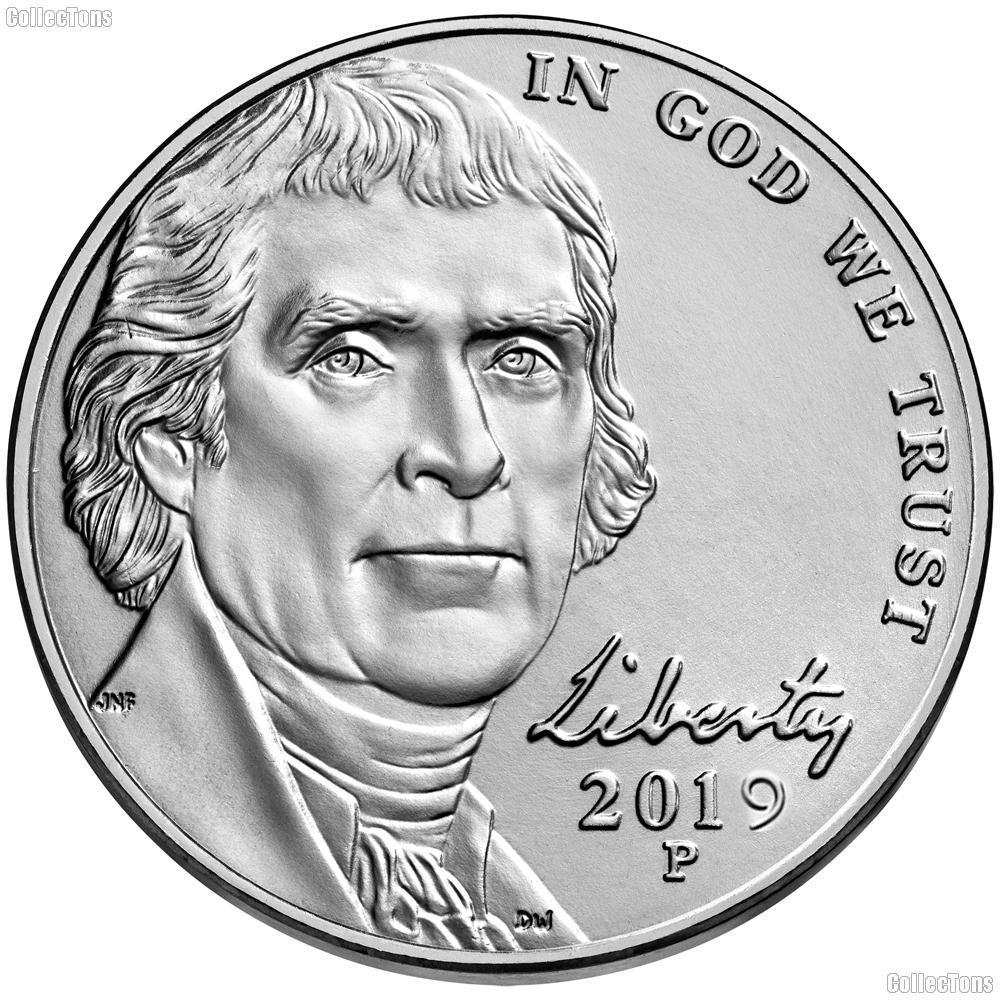 2019-P Jefferson Nickel Gem BU (Brilliant Uncirculated)