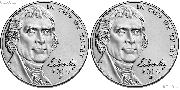 2019 P & D Jefferson Nickels Gem BU (Brilliant Uncirculated)