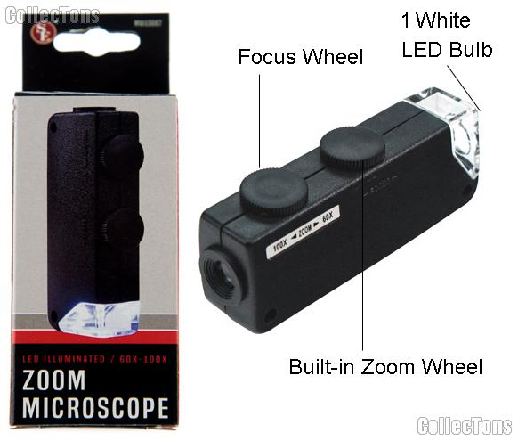 SE Mini Zoom 60x-100x Microscope LED Illuminated