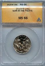 2019-W Guam War In the Pacific National Park Quarter in ANACS MS 66 Great American Coin Hunt