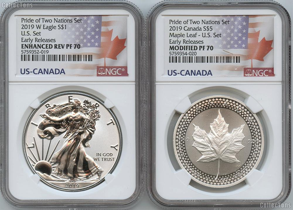 Pride of Two Nations 2019 Limited Edition 2-Coin Set in NGC PF 70