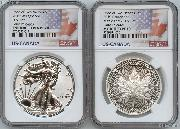 Pride of Two Nations 2019 US/Cananda 2-Coin Set in NGC PF 70
