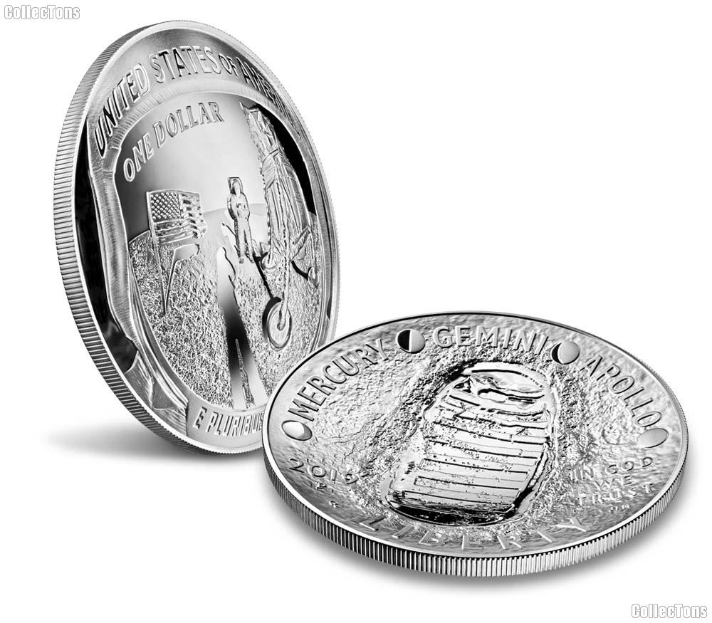 2019-P Apollo 11 50th Anniversary Five Ounce Proof Silver Dollar