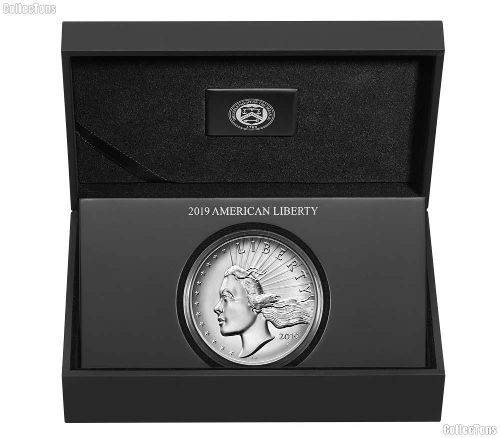 2019-P American Liberty High Relief 2.5 Ounce Silver Medal
