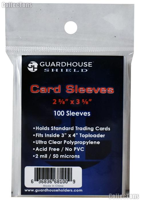 Baseball Card Sleeves 100 Sleeves for Sports and Trading Cards