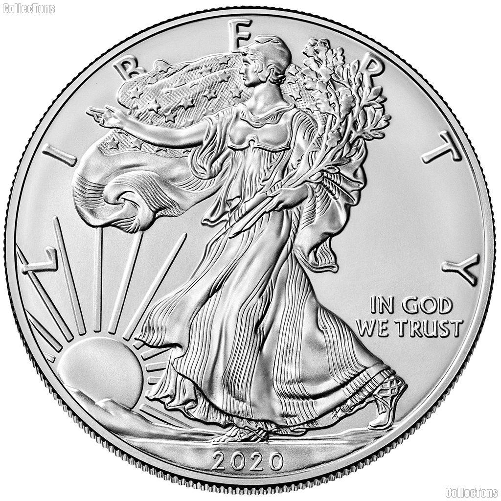 2020 American Silver Eagle Dollar BU