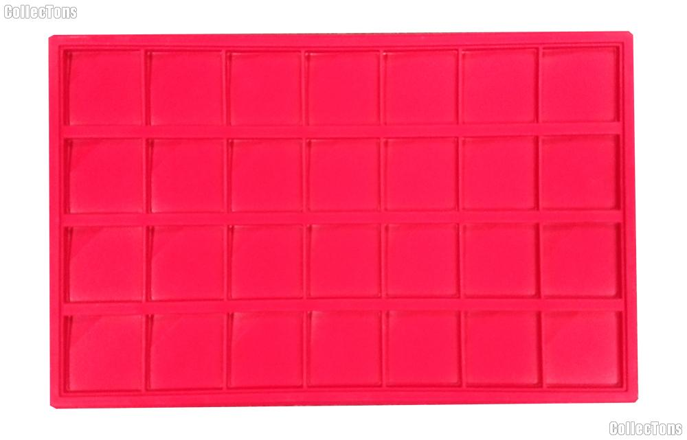 Universal Coin Tray for 2x2 Coin Holders in Red