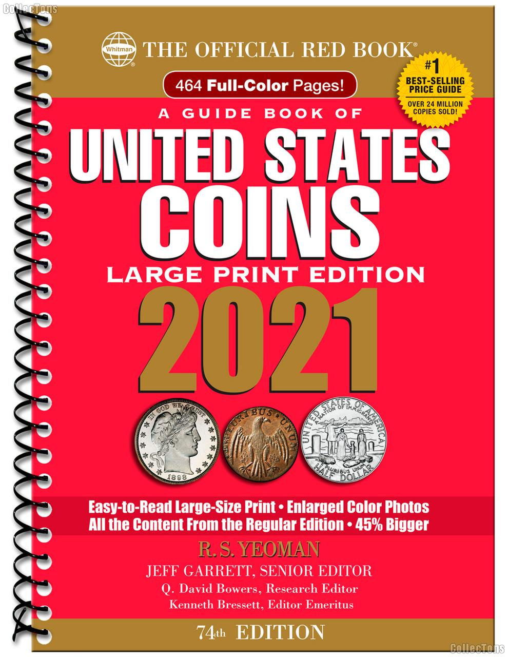 Whitman Red Book of United States Coins 2021 - Large Print