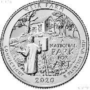 2020-W Connecticut Weir Farm Historic Site National Park Quarter GEM BU Great American Coin Hunt