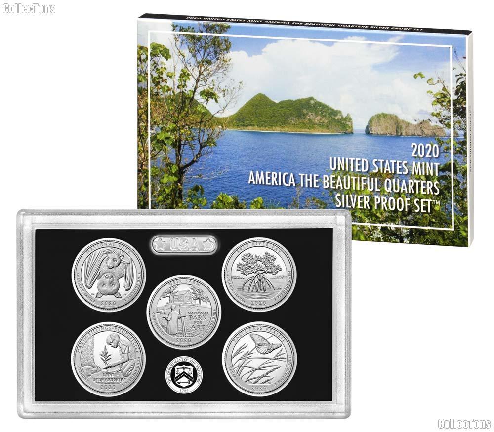 2020 QUARTER SILVER PROOF SET * ORIGINAL * 5 Coin U.S. Mint Silver Proof Set