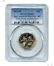 2019-W San Antonio Missions National Park Quarter in PCGS MS 65 First Week of Discovery