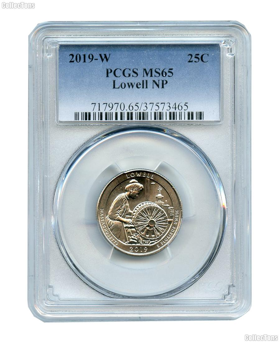 2019-W Massachusetts Lowell National Park Quarter in PCGS MS 65 Great American Coin Hunt