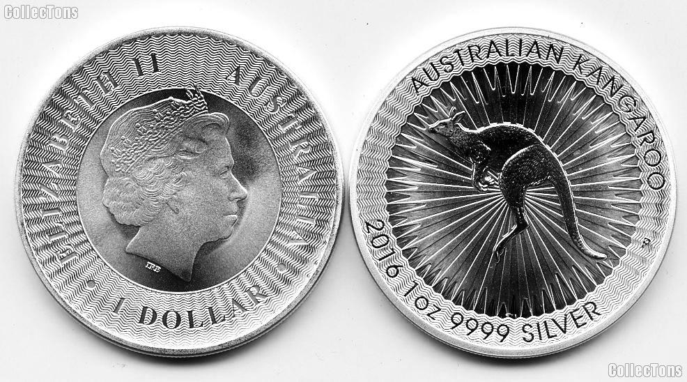 2016 Australia Kangaroo $1 One Dollar 1oz .9999 Fine Silver Coin BU
