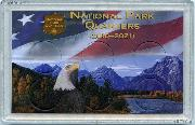 National Parks Quarters Holder by Harris 3x5 Flag & Eagle Design for America the Beautiful Quarter Program