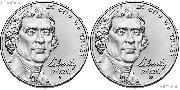 2020 P & D Jefferson Nickels Gem BU (Brilliant Uncirculated)