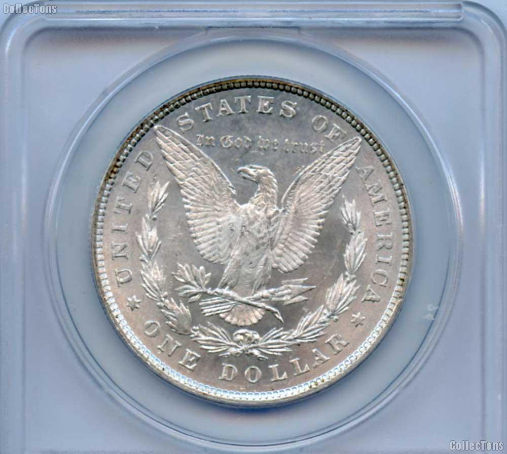 1878 8TF Morgan Silver Dollar in ANACS MS 63 Doubled Date VAM 18