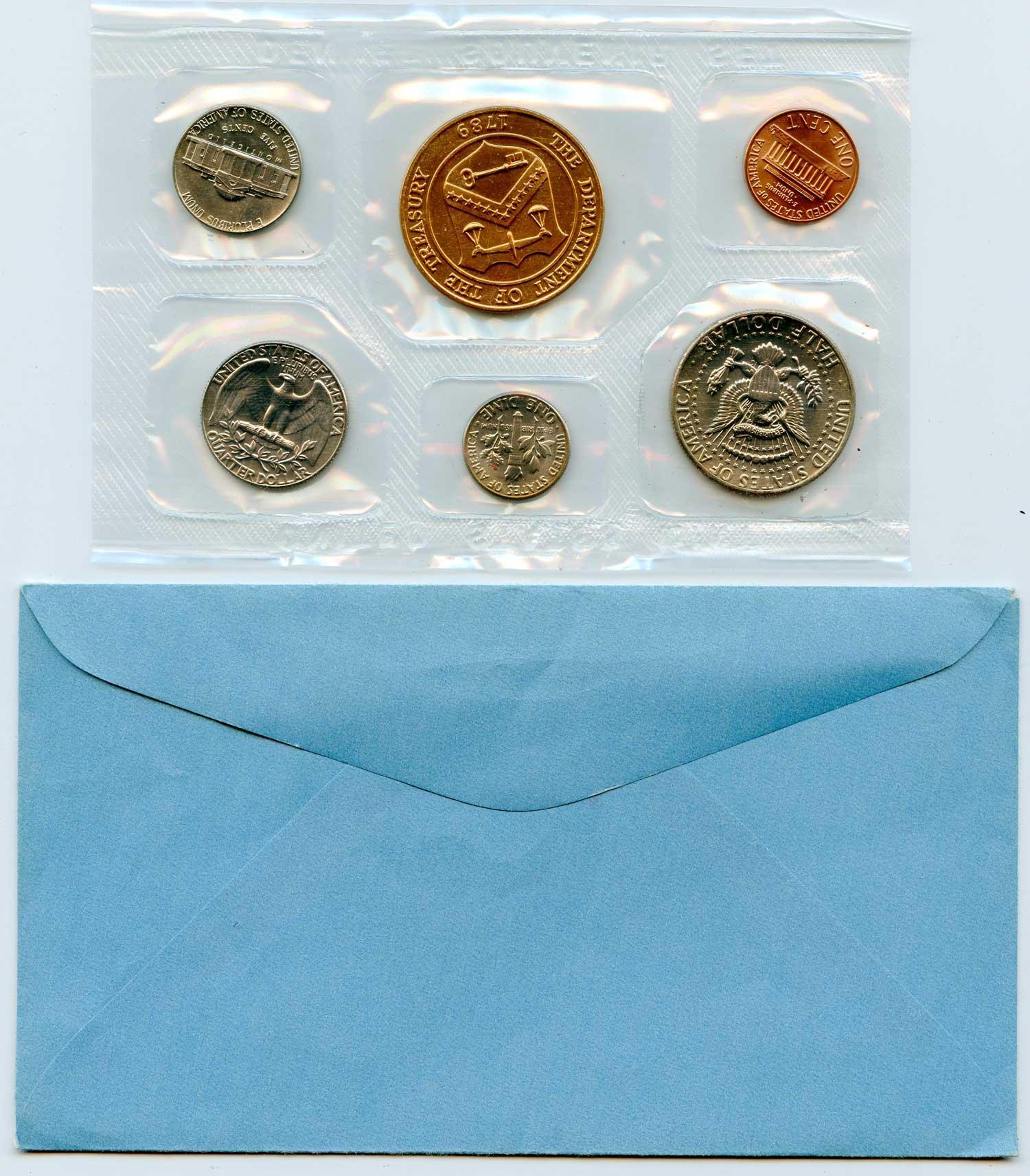 1974 1975 Scarce Dual Date Denver U.S. Mint Souvenir Set