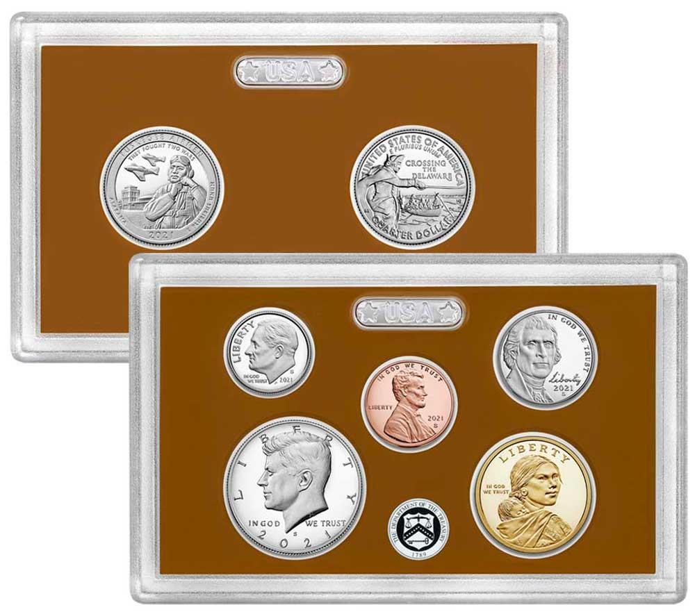 2021 PROOF SET * ORIGINAL * 7 Coin U.S. Mint Proof Set